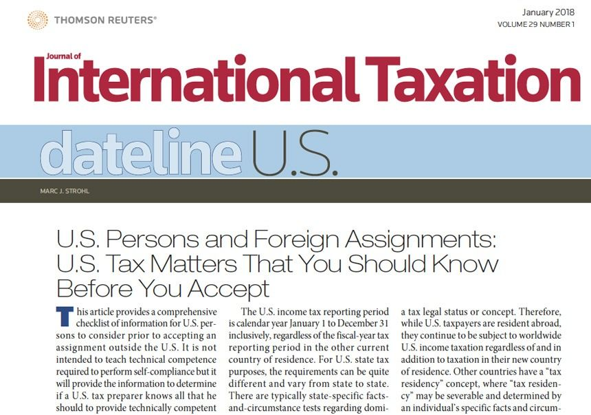 Expat Tax Services Expatriate Tax Protax Consulting Services